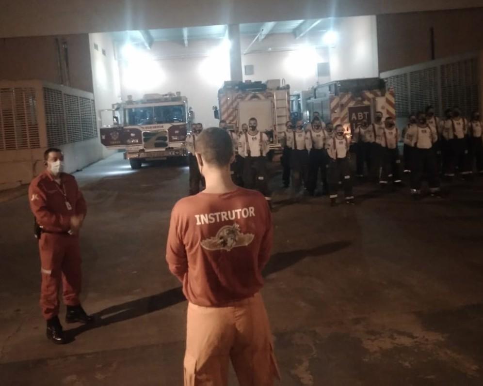 8º Curso de Operações em Incêndios (COI/GPCIU) realiza simulacro de grande incêndio urbano no JK Shopping