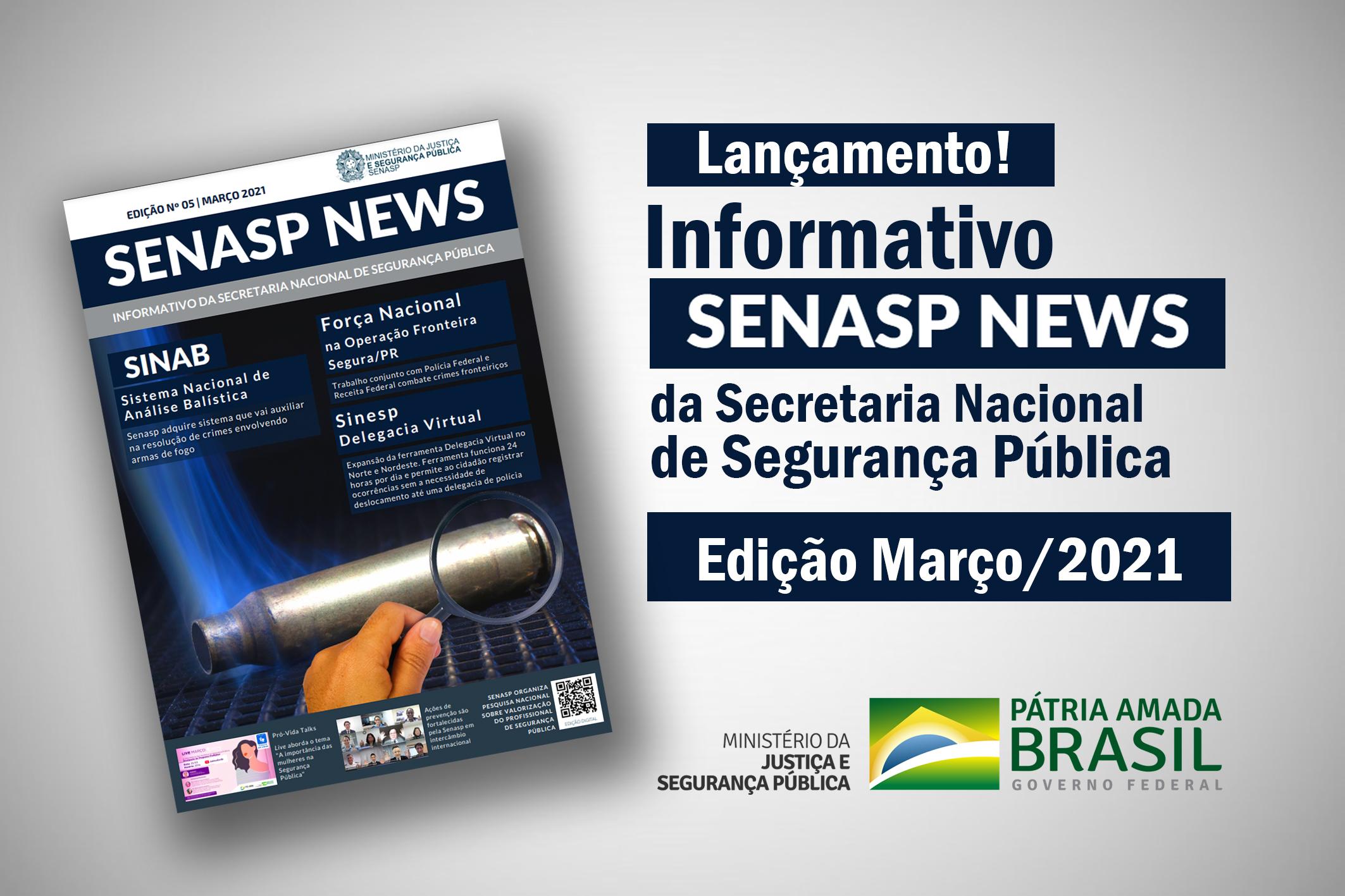 Lançamento Informativo Senasp News